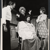 Larry Blyden, Geraldine Page, Richard Kiley, and Carole Shelley in the stage production Absurd Person Singular