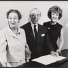 Dorothy Fields, Richard Rodgers, and Ethel Merman during rehearsal for the stage production Annie Get Your Gun