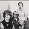 Ethel Merman, Irving Berlin, and Dorothy Fields during rehearsal for the stage production Annie Get Your Gun
