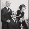 Richard Rodgers, Irving Berlin, and Ethel Merman during rehearsal for the stage production Annie Get Your Gun