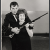 Bruce Yarnell and Ethel Merman in rehearsal for the stage production Annie Get Your Gun