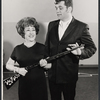 Ethel Merman and Bruce Yarnell in rehearsal for the stage production Annie Get Your Gun