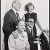 (Clockwise from upper left) Richard Rodgers, Ethel Merman, Irving Berlin, and Dorothy Fields during rehearsal for the stage production Annie Get Your Gun