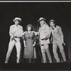 Bruce Yarnell, Ethel Merman, Rufus Smith, and Jerry Orbach in the stage production Annie Get Your Gun