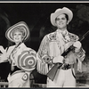 Benay Venuta and Bruce Yarnell in the stage production Annie Get Your Gun