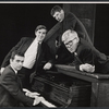 Dudley Moore, Peter Cook, Jonathan Miller and Alan Bennett in the stage production Beyond the Fringe