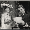 Inga Svenson and Fritz Weaver in the stage production Baker Street