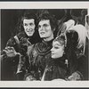 Larry Blyden, Alan Alda and Barbara Harris in the stage production The Apple Tree