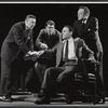John Randolph, Joel Crothers, Joseph Julian and Van Heflin in the stage production A Case of Libel