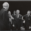 Larry Gates, Joel Crothers, John Randolph, Van Heflin and unidentifed other in the stage production A Case of Libel