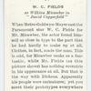 W. C. Fields as Wilkins Micawber in 'David Copperfield'.