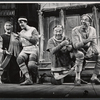 Carl Ballantine, Larry Blyden, Phil Silvers and unidentifed other in the 1972 Broadway revival of A Funny Thing Happened on the Way to the Forum