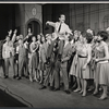 Darryl Hickman [left] Ralph Purdum [top] and ensemble in the stage production How to Succeed in Business