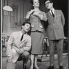 Darryl Hickman [left] and ensemble in the stage production How to Succeed in Business