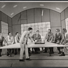 Ralph Purdum [left] Darryl Hickman, Rudy Vallee [center] and ensemble in the stage porduction How to Succeed in Business