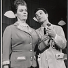 Darryl Hickman [right] and unidentified in the stage production How to Succeed in Business