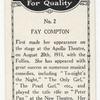 Fay Compton.