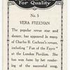 Vera Freeman.