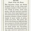 Egypt. Royal Army Air Force.