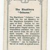The Blackburn 'Cubaroo'.