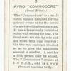 Avro 'Commodore' (Great Britain).