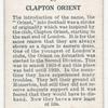 Clapton Orient.