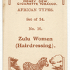 Zulu women (hairdressing).