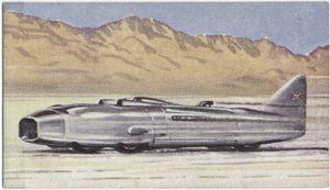 Captain Eyston's car 'Thunderbolt'.