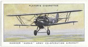 Hawker 'Audax' Army Co-operation aircraft.