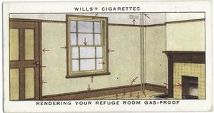 Rendering your refuge room gas-proof.
