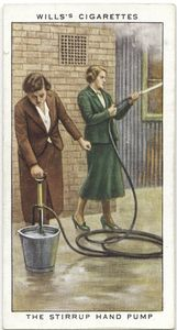 The stirrup hand pump.