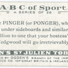 P is the PINGER (or PONGER), who chases ...