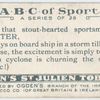 Q is that stout-hearted sportsman, the QUOITER, ...