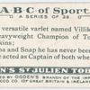 V is a versatile varlet named Villikins, ...