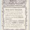 Kate Vaughan as 'Lady Teazle'.