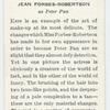 Jean Forbes-Robertson.