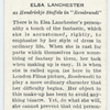 Elsa Lanchester.