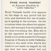 Dame Marie Tempest.