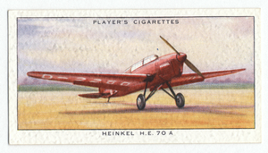 Heinkel  H. E. 70A (Germany).