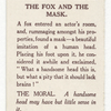 The fox and the mask.