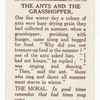 The ants and the grasshopper.