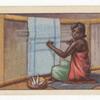 A Jukun weaver.