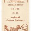 Ashanti cotton spinner.