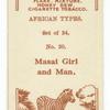 Masai girl and man.