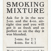 'Greys' smoking mixture. (Man with a smoking pipe.)