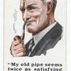 'Greys' smoking mixture. (Man with a smoking pipe.)