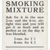 'Greys' smoking mixture. (Man smoking a pipe.)