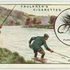 Gaffing a Salmon on the Spey.