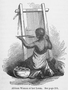 African woman at her loom. See page 209.