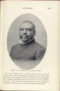 Rev. A. R. Griggs, D. D., Dallas, Texas